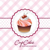 Vintage card with cupcake 05 — Stock Vector