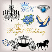 Royal Wedding — Stock Vector
