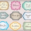 Set of vintage frames — Stock Vector #10412310