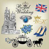 Kraliyet düğünü — Stok Vektör