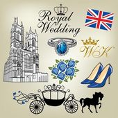 Royal Wedding — Vettoriale Stock