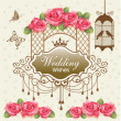 Royal wedding background — Stock Vector