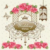 Royal wedding background — Stock Vector