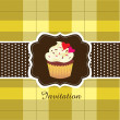 Vintage card with cupcake ver. 2 — Stock Vector #9919605