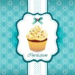 Stock Vector: Vintage card with cupcake 03