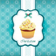 Vintage card with cupcake 03 — Stock Vector #9968366