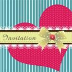 Invitation card design ver. 2 — Stock Vector