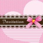 Invitation card design ver. 3 — Stock Vector