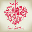 Royalty-Free Stock Imagen vectorial: Greeting floral heart ver. 1