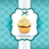 Vintage card with cupcake 03 — Stock Vector