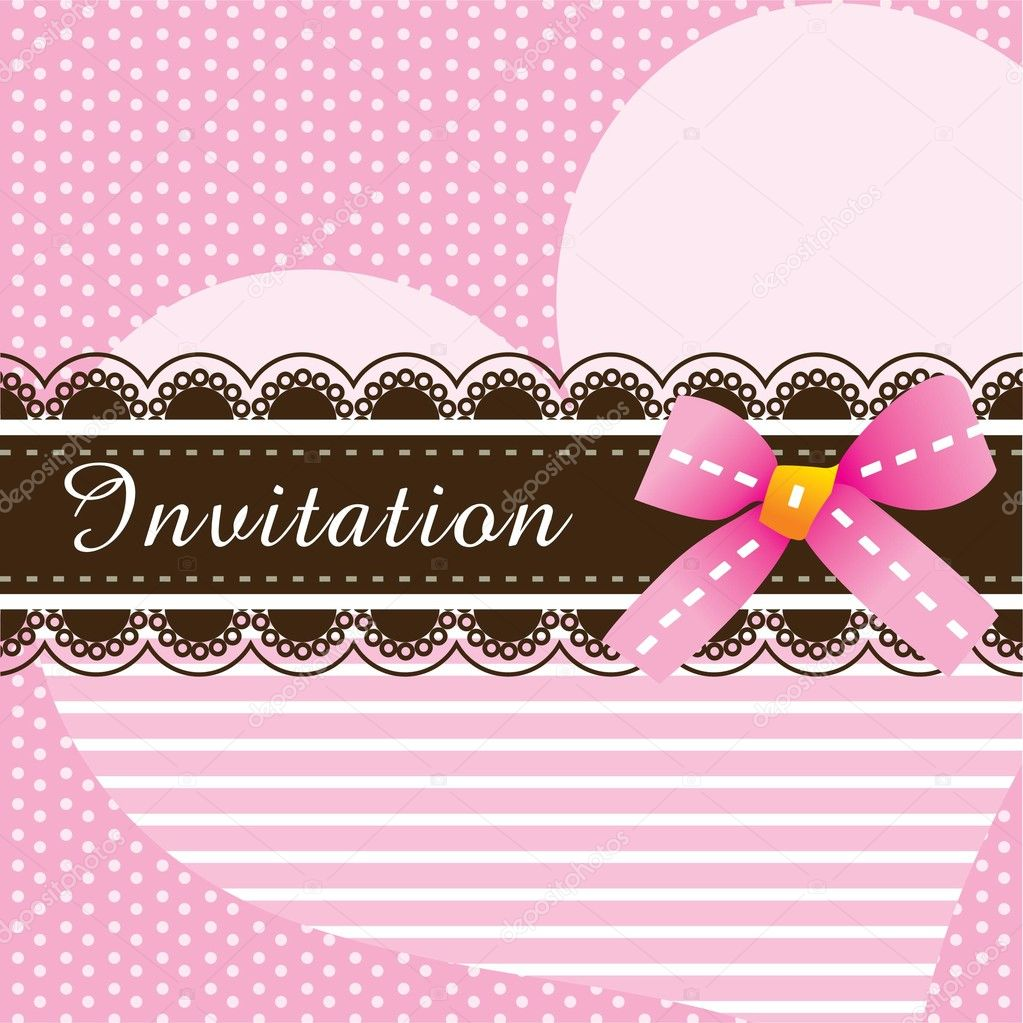 Invitation card design ver. 3 — Stock Vector #9969306