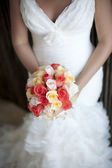 Classic bride and bouquet — Stock Photo