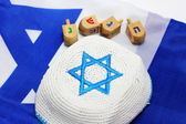 Dreidels with Kippah — Stock Photo