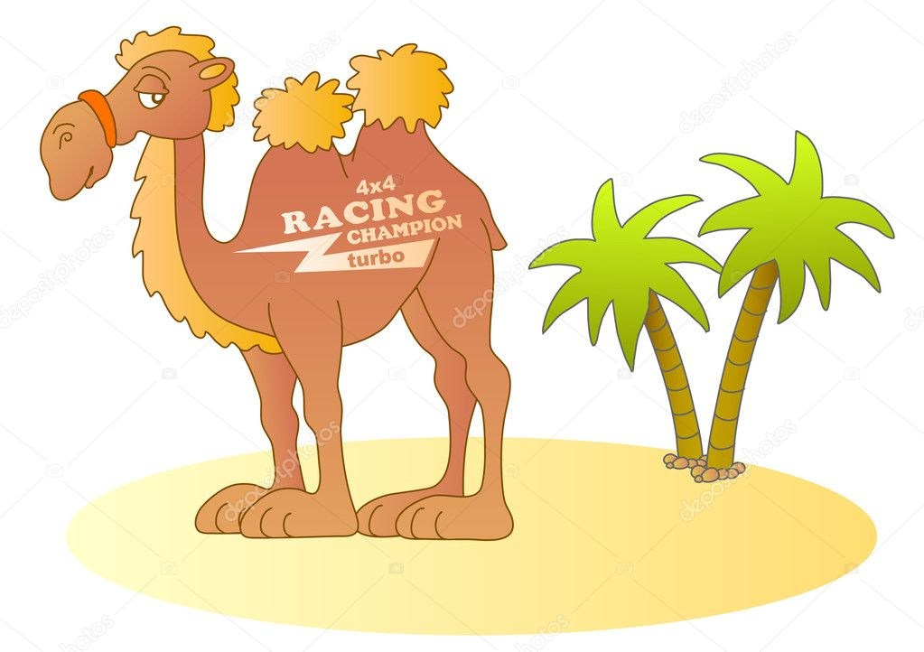 Funny desert racer; vector illustration — Stock Vector #10050404