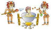 Cannibalism — Stock Vector