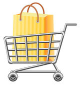 Shoppingcart and shopping bag — Stock Vector