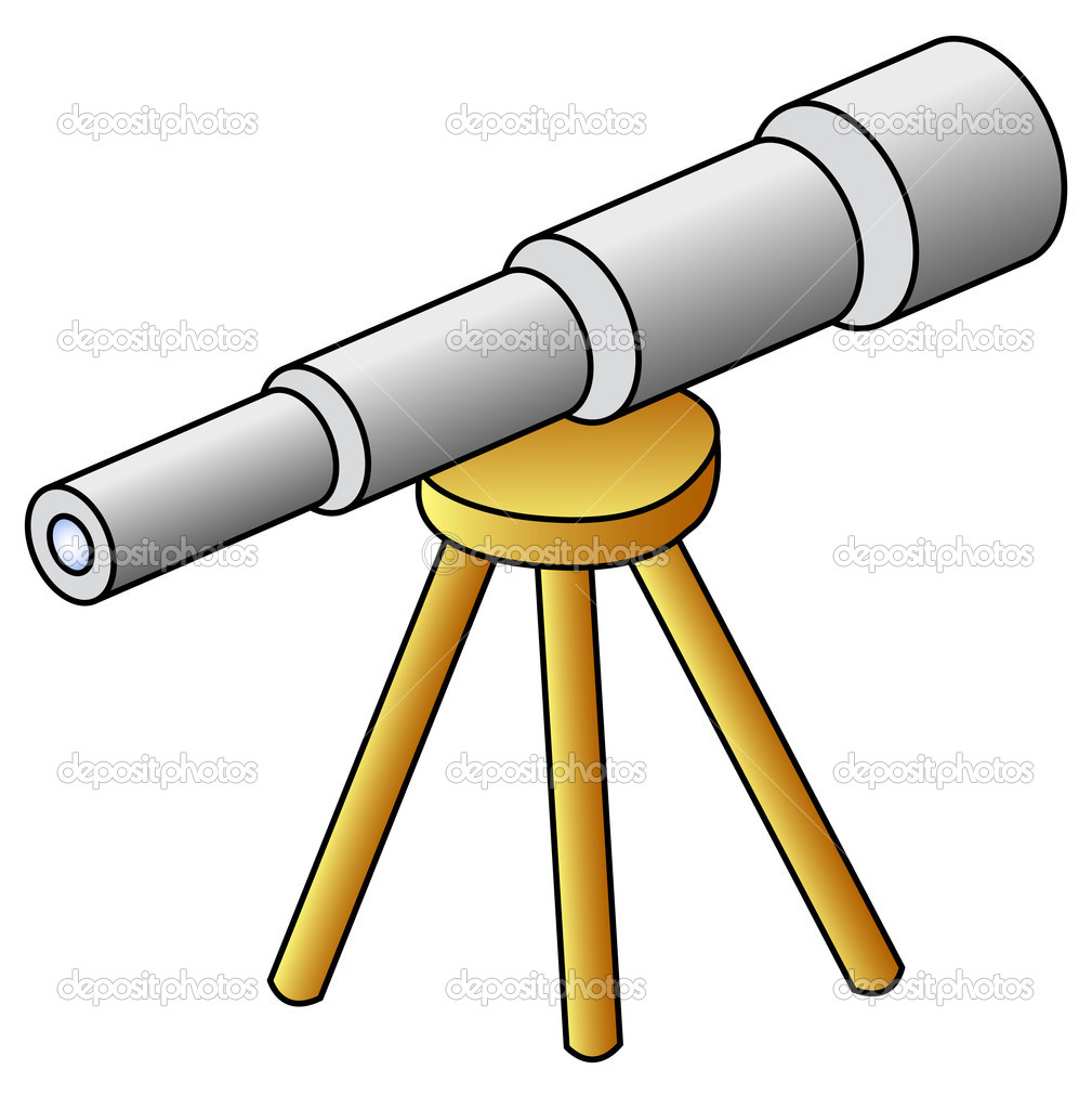Cartoon Telescope Telescope - stock illustration