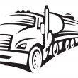 Royalty-Free Stock Imagem Vetorial: Fuel truck