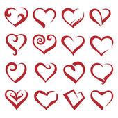 καρδιές — Διανυσματικό Αρχείο