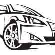 Illustration of a car - Stock Vector