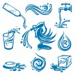 Royalty-Free Stock Vector Image: Water icons