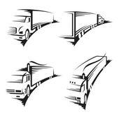 Set of trucks — Stock Vector