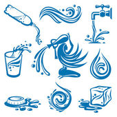 Water icons — Stock Vector