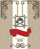 Restaurant menü-design — Stockvektor