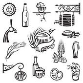 Beer icons set — Stock Vector
