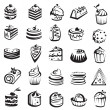 Set of cakes — Stock Vector #10488684