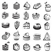 Conjunto de tortas — Vector de stock