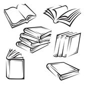 Set of books — Stock Vector