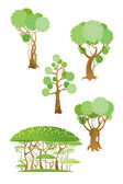Trees and shrubs — Stock Vector