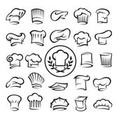 Set of chef hats — Stok Vektör