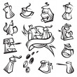 Coffee icon set — Stock Vector