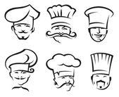 Chefs set — Stock Vector