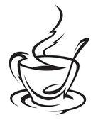 Tasse kaffee — Stockvektor