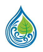 Water drop icon — Stock Vector