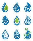 Water drops icons — Stock Vector
