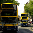 Dublin street with bus - Stock Photo