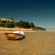 Stok fotoğraf: Down tide with boats.