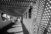 Black and white porch. — Stock Photo