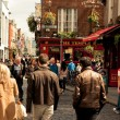 Dublin street with - Stock Photo