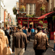 Stock Photo: Dublin street with
