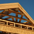 Construction of New Roof on Home — Stock Photo
