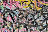 Grafitti Background on Wall — Stock Photo