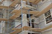 Apartment Building Construction — Stock Photo