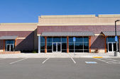 New Shopping Center made of Brick Facade — Stock Photo