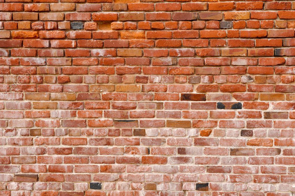 Antigo fundo de parede de tijolo vermelho r stico foto - Ladrillo rustico envejecido ...