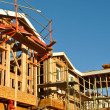 Stock Photo: New Residential Homes Under Construction